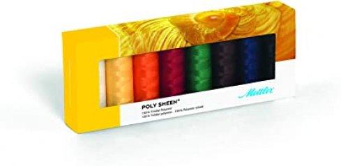 sada nití Mettler Poly Sheen - 8 Kit