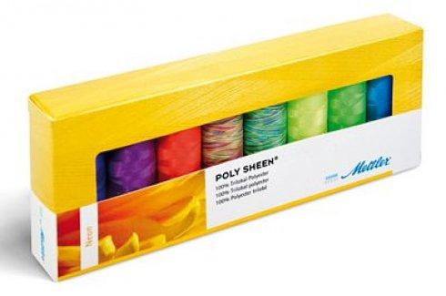 sada nití Mettler Poly Sheen - Neon Kit 8ks