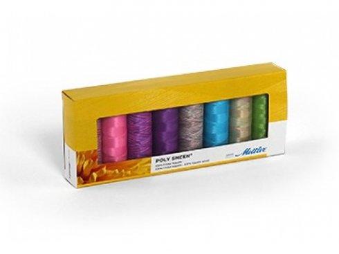 sada nití Mettler Poly Sheen - Brights Kit 8ks