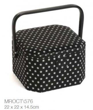 košík na šicí potřeby Black Star 22x22x14,5cm