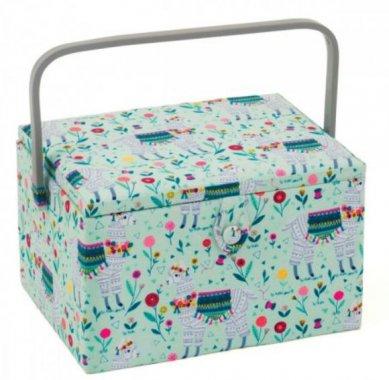 košík na šicí potřeby Llama 31x23,5x20cm