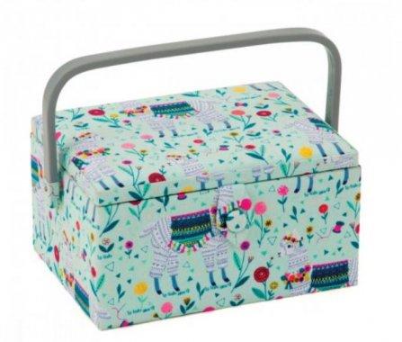 košík na šicí potřeby Llama 19x26x14,5cm