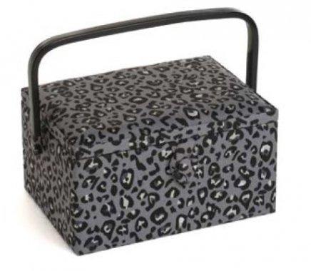 košík na šicí potřeby Leopard 26x19x14,5cm