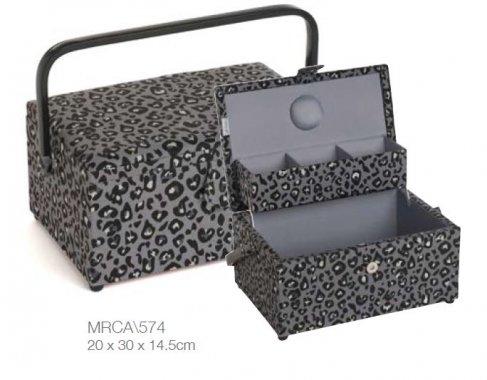 košík na šicí potřeby Leopard 30x14,5x20cm