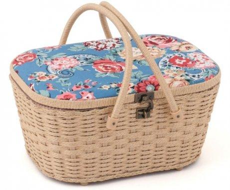 košík na šicí potřeby Kashmir Rose 36x17x23cm