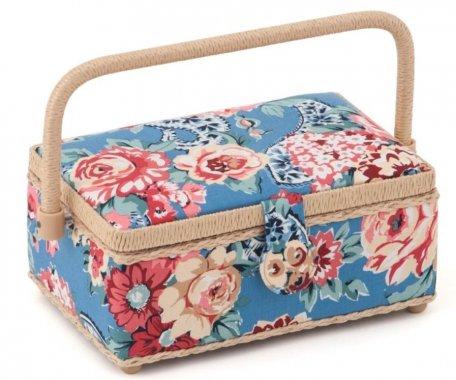 košík na šicí potřeby Kashmir Rose 15x23,5x10cm