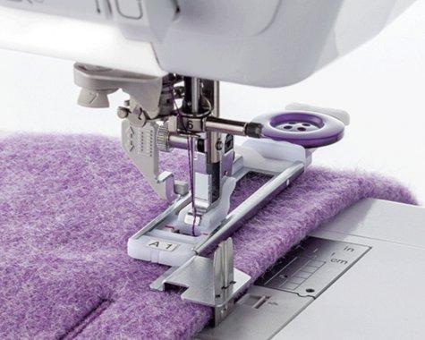 Patka F083 pro šití knoflíkové dírky se stabilizační destičkou