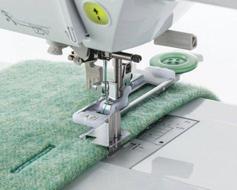 Patka F084 pro šití knoflíkové dírky se stabilizační destičkou