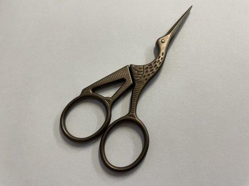 krejčovské nůžky čapí 11,5cm hnědé