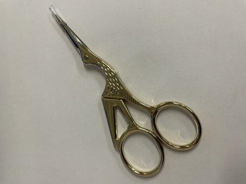 krejčovské nůžky čapí 11,5cm zlaté bez špičky