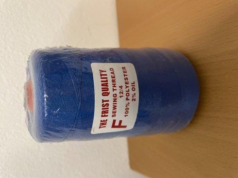 niť pro pytlovací stroje 12/4 200g modrá