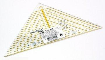 trojúhelník 1/4 na patchwork Omnigrid