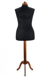 aranžérská panna černá s dřevěným stojanem velikost 38