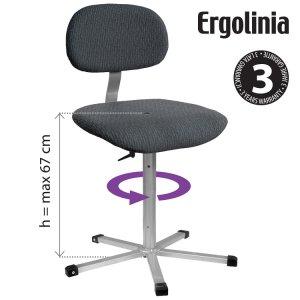 otočná židle Ergolinia 10002 polstrovaná pro oděvní průmysl