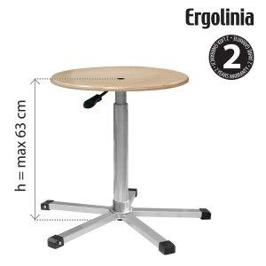 průmyslová otočná stolička dřevěná Ergolinia EVO3