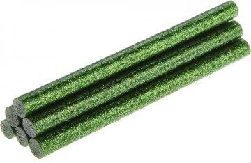 tavná tyčka zelené třpytky 8x100mm - 6ks
