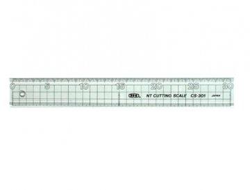 pravítko plastové s kovovým páskem 50cm