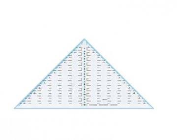 patchworkové pravítko - trojúhelník 1/4 12palců