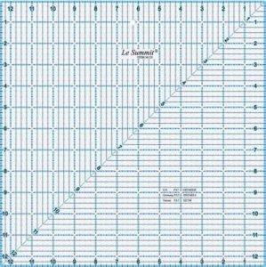 patchworkové pravítko - čtverec 12,5x12,5 palců modročerné rysky
