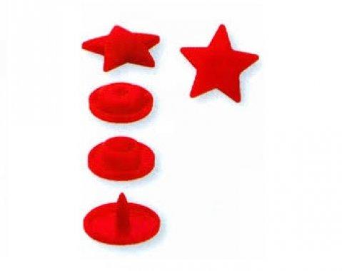 plastové druky PRYM hvězdičky červené 30ks