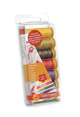 nitě Gütermann set 7ks multicolor 100%mercerovaná bavlna