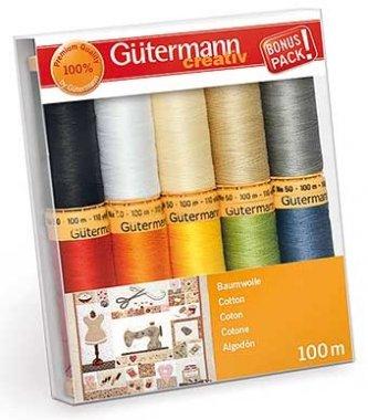 sada nití Gütermann 10x100m 100%bavlna
