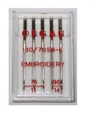 jehly Organ vyšívací 130/705H H-E 75-90 5ks