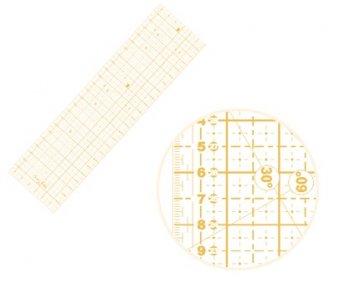 patchworkové pravítko 16x60cm žluté popisky