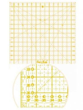 patchworkové pravítko 15x15palců žlutá osnova