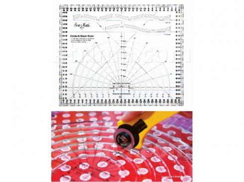 rastrové pravítko pro patchwork - křivítko