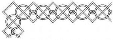 šablona pro quilt - řetěz